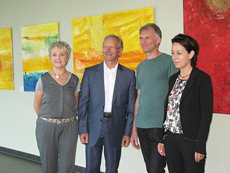 Frau Becher-König, Herr Reifarth, Herr Langer und Irmgard Hofmann im caesar