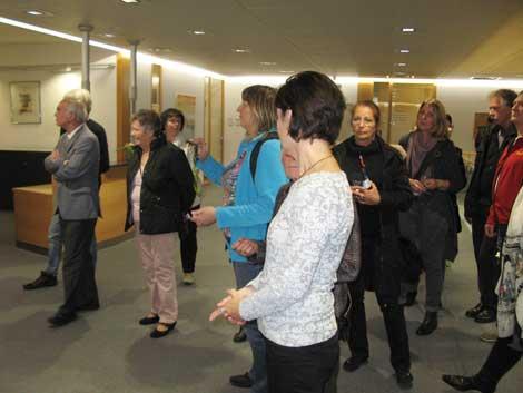 Ausstellung Aufbruch und Ausdehnung, Kunstführung durch die Ausstellung