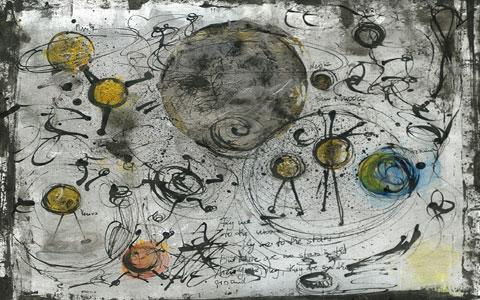 Fly me to the Moon, Titel des Bildes von Irmgard Hofmann