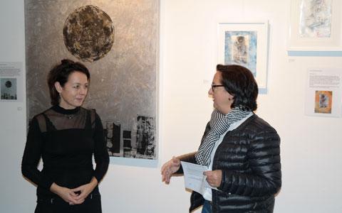 Mondausstellung von Irmgard Hofmann in der Städtischen Galerie Wesseling